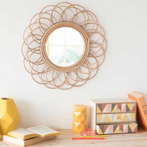 maisons du monde miroir rotin 36,99€
